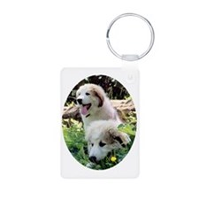 isajitan_oval Aluminum Photo Keychain