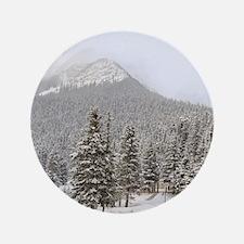 "Canada, Alberta, Lake Louise. Farimont 3.5"" Button"