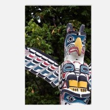 Totem pole located in Sta Postcards (Package of 8)