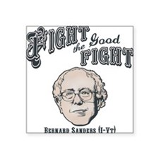"""bernie-fight-LTT Square Sticker 3"""" x 3"""""""