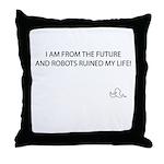 Future Robots Throw Pillow
