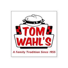 "tomwahls_shirt Square Sticker 3"" x 3"""