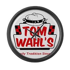 tomwahls_shirt Large Wall Clock