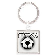 futbol Square Keychain