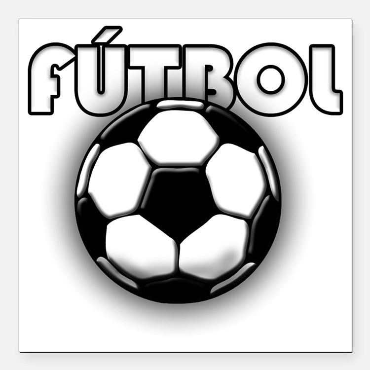 "futbol Square Car Magnet 3"" x 3"""