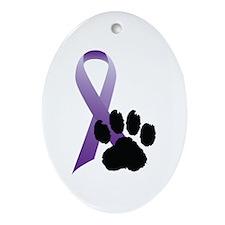 Animal Cruelty Awareness Oval Ornament