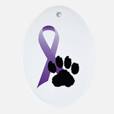 Animal Cruelty Awareness Oval Ornament