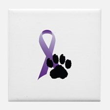 Animal Cruelty Awareness & Prevention Tile Coaster