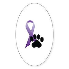 Animal Cruelty Awareness Oval Decal