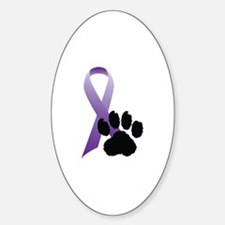 Animal Cruelty Awareness Oval Decal