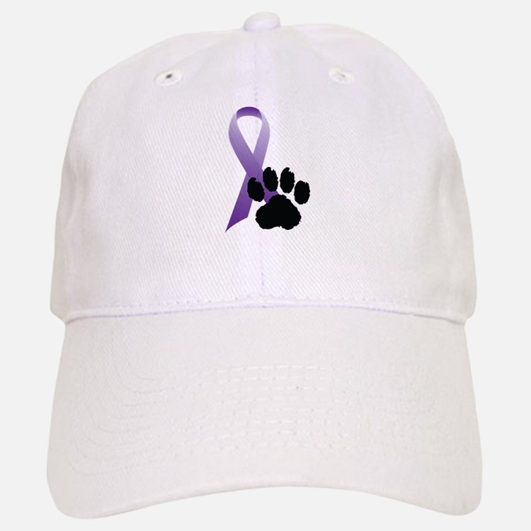 Animal Cruelty Awareness Ribbon Baseball Baseball Cap