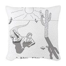 desertxbox Woven Throw Pillow