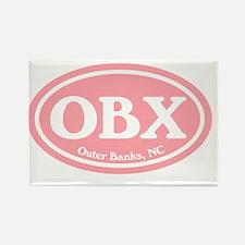 Outer Banks.OBX.Windsor.pink Rectangle Magnet