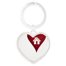 I Heart Real Estate Heart Keychain
