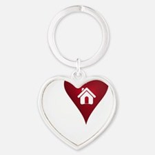 I Heart Real Estate Heart Keychain