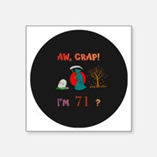 "pin-magnet 71 Square Sticker 3"" x 3"""