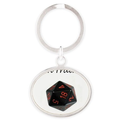 D20 belly Oval Keychain
