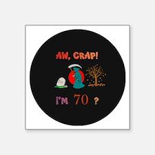 "pin-magnet 70 Square Sticker 3"" x 3"""