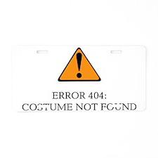 Error 404 Costume light Aluminum License Plate