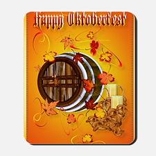 Large PosterBig Beer-Happy Oktoberfest Mousepad