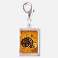 Large PosterBig Beer-Happy O Silver Portrait Charm