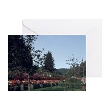 Victoria Flowers at Butchart Gardens Greeting Card