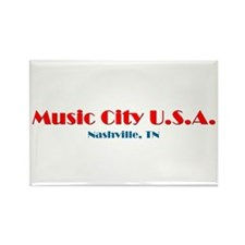 Cute Music city nashville Rectangle Magnet