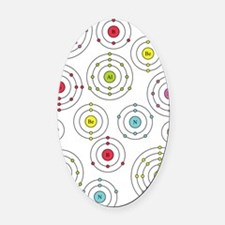 periodic shells fabric Oval Car Magnet
