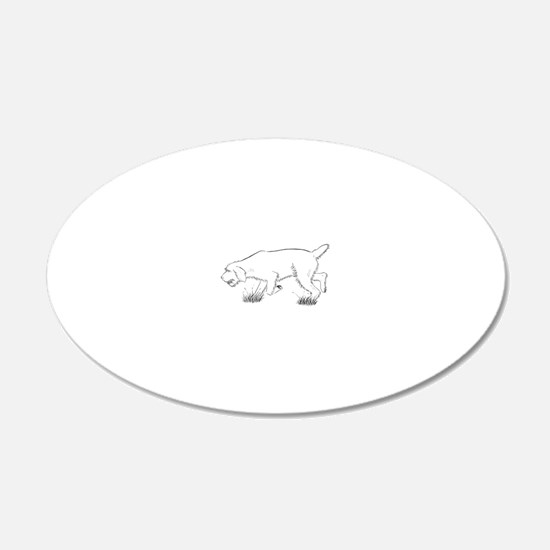 Hunting Spinone Outline Wall Decal