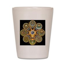 Witches Wheel of the Year Shot Glass