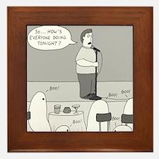 Ghost Comedian - no text Framed Tile