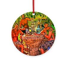 the three hawaiians Round Ornament