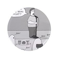 """Ghost Comedian - no text 3.5"""" Button"""