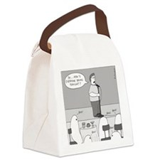 Ghost Comedian - no text Canvas Lunch Bag