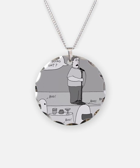 Ghost Comedian - no text Necklace