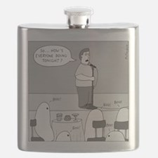 Ghost Comedian - no text Flask