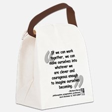 Rorty Together Quote Canvas Lunch Bag