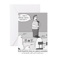 Ghost Comedian Greeting Card