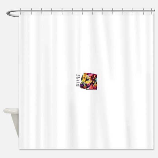 Pitt Wags Shower Curtain