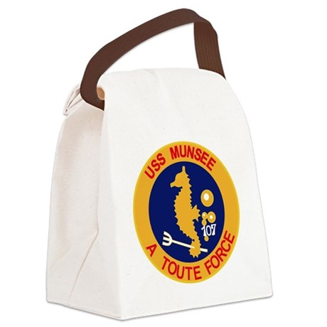 ATF-107 USS Munsee Military Patch Canvas Lunch Bag