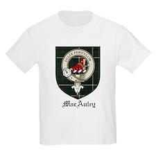 MacAuley Clan Crest Tartan Kids T-Shirt