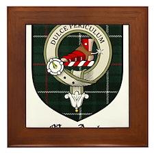 MacAuley Clan Crest Tartan Framed Tile