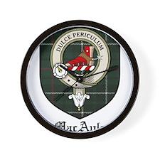 MacAuley Clan Crest Tartan Wall Clock