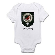MacAuley Clan Crest Tartan Infant Bodysuit