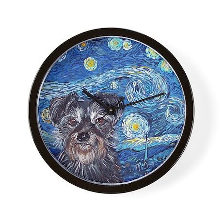 SQ StarryNightDog Wall Clock