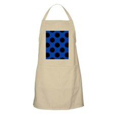 Blue and Black Polka Dot Flip Flops Apron