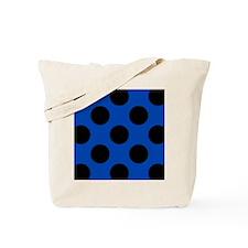 Blue and Black Polka Dot Flip Flops Tote Bag