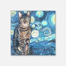 "MouseLite StarryCat Square Sticker 3"" x 3"""