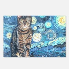 MouseLite StarryCat Postcards (Package of 8)