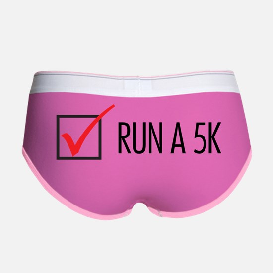 Run a 5K Check Box Women's Boy Brief